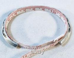 Vintage Zuni Bobby Lojan Stamped Sterling Silver Cuff Bracelet Navajo