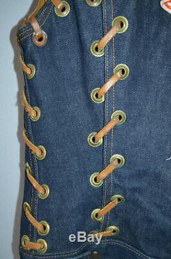 Vtg LEVIS 557 1962 Big E Type III Jean Jacket Vest UT TEXAS PATCH 0 Button Stamp