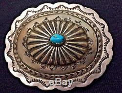 Vtg Old Pawn Navajo Hand Stamped Am Sterling Silver