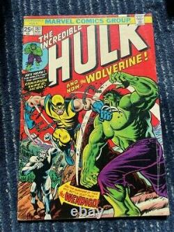 WOW! Incredible Hulk #181, 1st Full Wolverine Marvel Value Stamp Intact