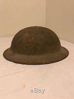 WW1 US P17 Doughboy Helmet 3rd Division Hand Painted Helmet Stamped YU 154