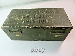 WWII 1942 C. H. HANSON COMPANY Steel Letter / Number Set Marking Stamp US