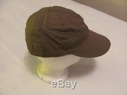 WWII US Army Air Force HBT Type A-3 mechanics cap size 7 1/2 with AAF ink stamp