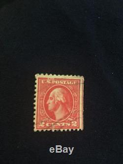 Washington 2 cent stamp Red Line Rare