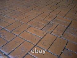 Worn Brick Basketweave Single Concrete Stamp by Walttools (Floppy)
