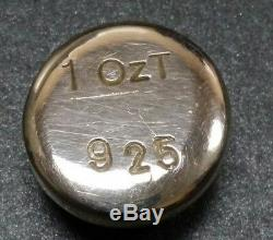 Ws Logo 1 Troy Oz. 999 Fine Silver Old Style Poured bar Ingot Rare Stamped