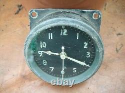 Ww2 raf spitfire lancaster clock ref 6a/1002 dt 1943 am stamp on ba not working