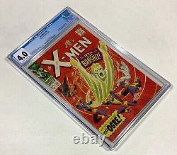 X-MEN #28 CGC 4.0 KEY! Cool Date Stamp! (1st Banshee appearance!) 1967 Marvel